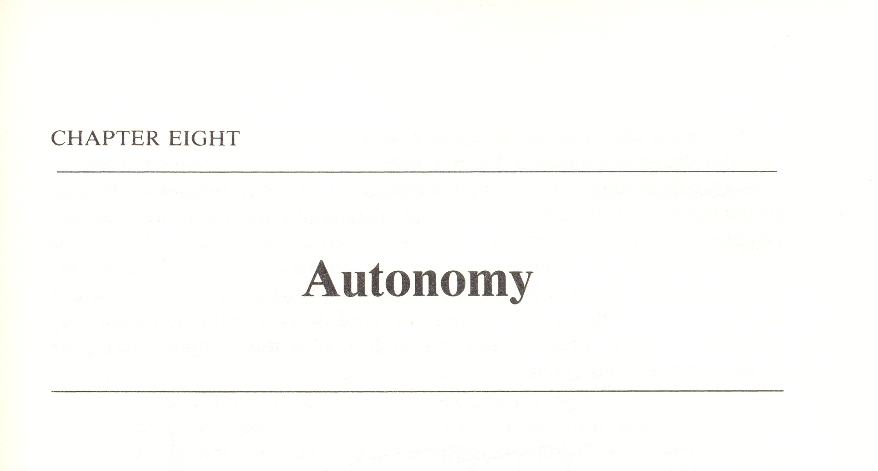Autonomy (chapter title)