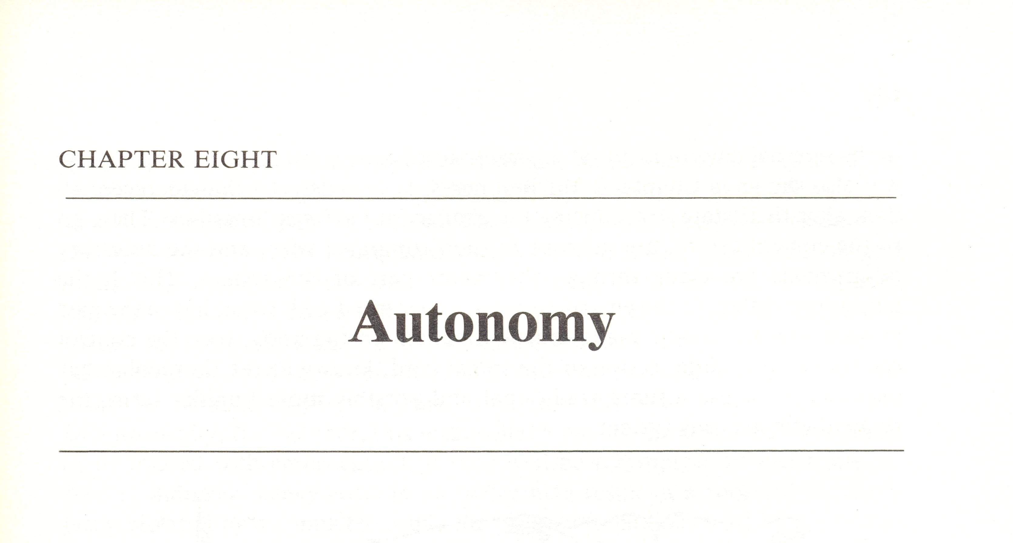Autonomy (chapter title)
